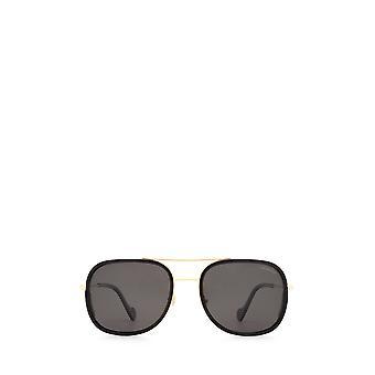 Moncler ML0145 gafas de sol masculinas negras brillantes