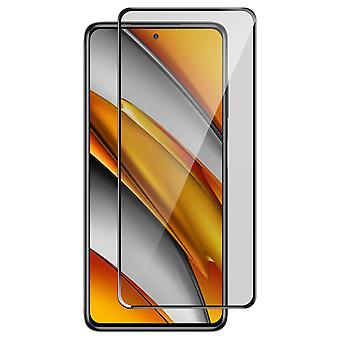 Tempered Glass Xiaomi Poco F3 9H Resistant Glass 100% black Adhesive Surface