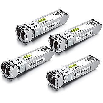 FengChun [4 Stück] 10Gbit SFP+ SR Multimode Modul, 10GBase-SR SFP+ LC Transceiver, Kompatibel für