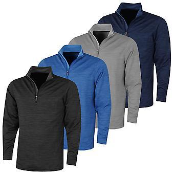 Proquip Mens 2021 Pro Tech Long Sleeve High Collar 1/4 Zip Midlayer Wind Shirt