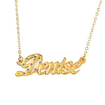 """L Denise - 18-carat gold-plated necklace, adjustable chain from 16"""" to 19"""", free gift box"""