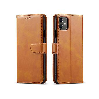 Flip folio leather case for samsung a32 5g khaki pns-901