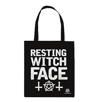 Witch Please Resting Witch Face Tote Bag