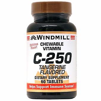 Windmill Health Viatmn C Chewable, 250 mg, Tangerine Flavored 60 Tabs