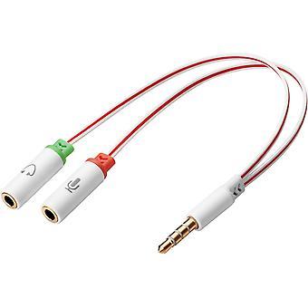 Sandberg 3,5mm kábel rozdeľovač konektora, vstup mikrofónu a zvukový výstup do 1 x 3,5 mm konektora