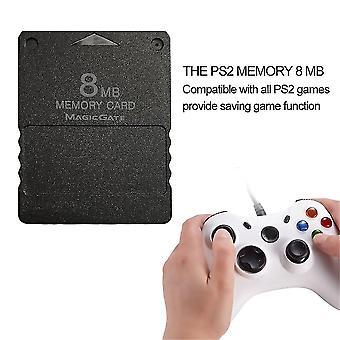 تصميم مدمج 8MB بطاقة الذاكرة مناسبة ل Ps2 بلاي ستيشن 2 Ps 2 أسود