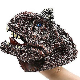 Guantes de marionetas de mano de dinosaurio, juguete modelo de dinosaurio suave para niños (S6)
