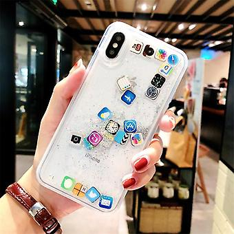 Glinsterende mobiele telefoon geval