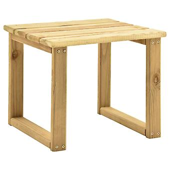 vidaXL pöytä aurinkotuolille 30x30x26 cm Kyllästetty mäntypuu