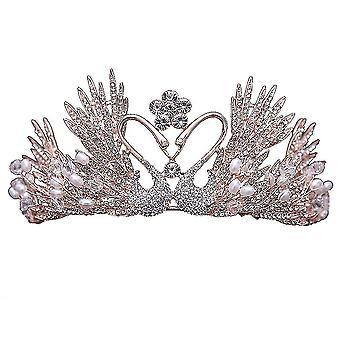 Svadobné čelenky Koruna Diamond Tiara Svadobné perlové šperky