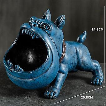 Creative Bulldog Ashtray Cartoon Animal Snack Key Storage Box Dog Ceramic Crafts Living Room