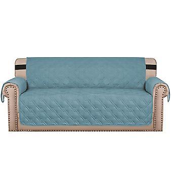 100%防水ソファは、1/2/3/4シーター、ブルーのためのストラップ付きソファのスリップカバーをカバー