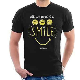 Smiley World All We Need Is A Smile Men's T-Shirt