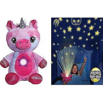 Animali di peluche Ontel Star Belly Dream Lites Stuffed Animal Night Light Cuddly Blue Puppy Pink