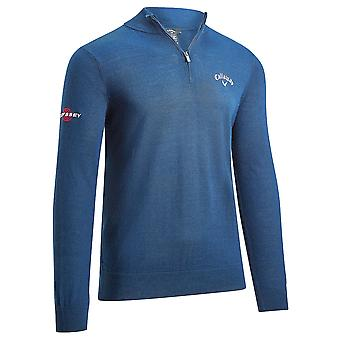 Callaway Golf Hommes 2021 1/4 Blended Merino Mix Odyssey Thermal Golf Sweater