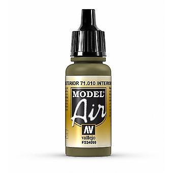 Vallejo Model Air 10 Interior Green - 17ml Acrylic Airbrush Paint