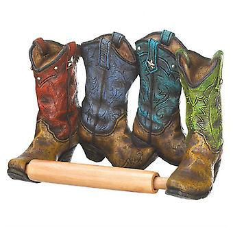 Accent Plus Cowboy Boots Toilet Paper Holder, Pack of 1