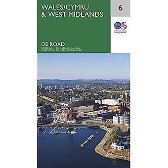 Wales & West Midlands (OS Wegenkaart)