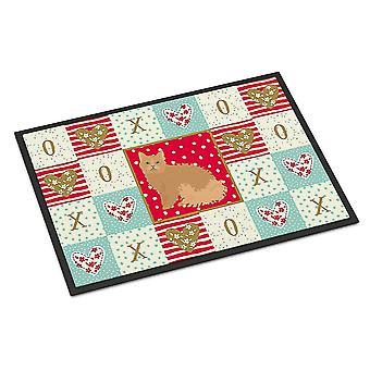 Door mats carolines treasures ck5784jmat selkirk rex cat love indoor or outdoor mat 24x36