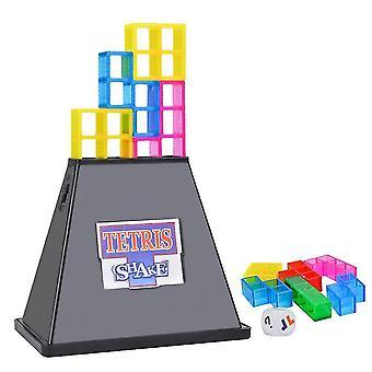 Wooden blocks early education kids toy sensory brain development imagination vibration base stacking tetris game