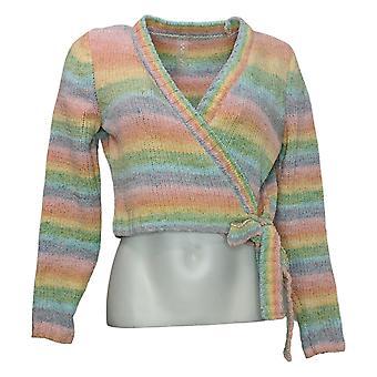 WVVY by Fitty Britttty Women's Sweater Rainbow Wrap Pink 729667
