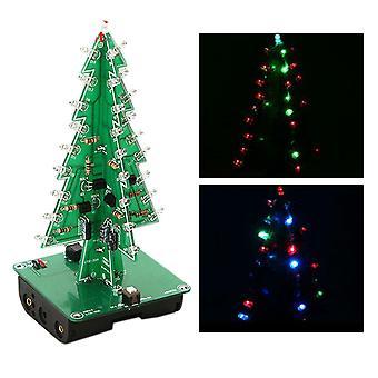Diy 3d Vánoční strom led kit sedm barev led flash funny obvod díly