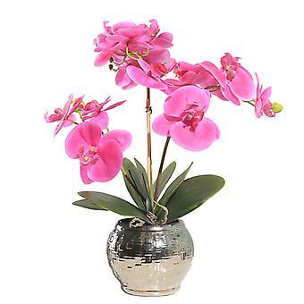 Simulazione Vaso da fiori Pianta Sentire isolato Farfalla Orchidy Arte Decorazione Pacchetto Decorazione domestica Soggiorno Portico Portico Tavolino Da caffè Decorazione