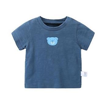 Roupas de bebê Slub Cotton Boy Camiseta de manga curta