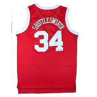 यीशु शटलवर्थ #34 लिंकन हाई स्कूल बास्केटबॉल जर्सी 90 के दशक हिप हॉप कपड़े पार्टी पुरुषों के लिए वह खेल फिल्म जर्सी मिला