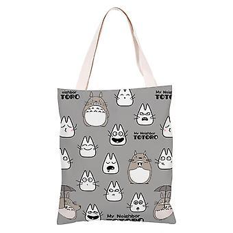 الكرتون أنيمي قماش حقيبة التسوق Totes، #4 Totoro