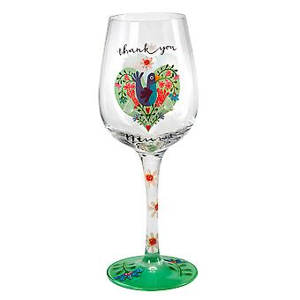 Here's To You Love You Mum Wine Glass