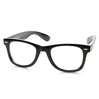 Cadre épais classique lentille claire corne base Rimmed lunettes