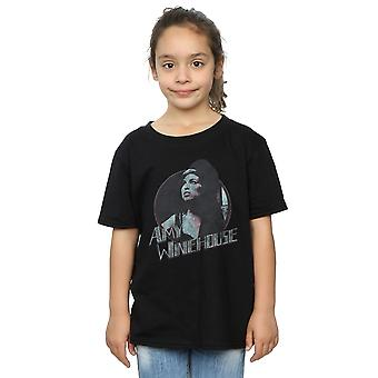 Amy Winehouse Girls Distressed Circle T-Shirt