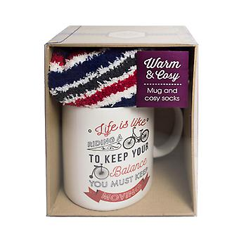 Mug and Sock Gift Set, Life is Like a Bike