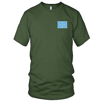 Drapeau National du pays de Micronésie - Logo - brodé 100 % coton T-Shirt Ladies T Shirt