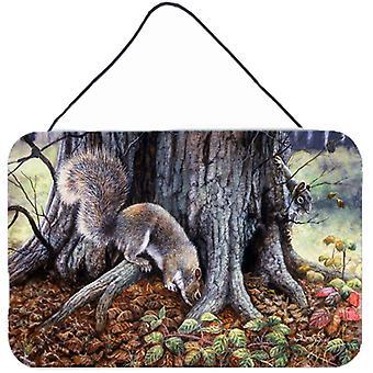 Grey Squirrels around the Tree Wall or Door Hanging Prints