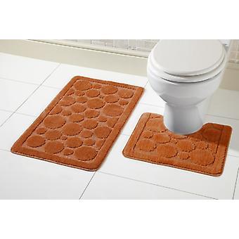 Cali Badmat instellen 2 stuk antislip rubberen voetstuk Mat Toilet badkamer Mat