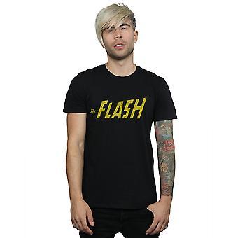 DC Comics Herren Flash-Knistern Logo T-Shirt