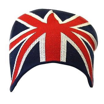 Mens Great Britain Union Jack Flag Winter Beanie Hat