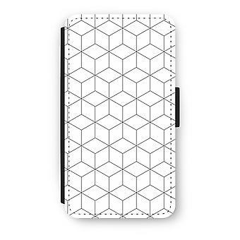 Samsung Galaxy A3 (2016) Flip Case - kuber svart-hvitt