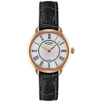 Rotary Ladies Elise Black Leather Strap LS02919/41 Watch