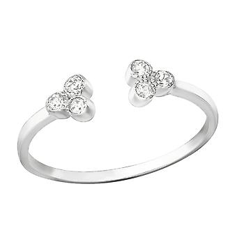 Offen - 925 Sterling Silber jeweled Ringe - W37393X