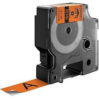 Etiquetado color de Vinyl Tape Cinta DYMO IND RHINO 18436: naranja Font color: negro 19 mm 5,5 m