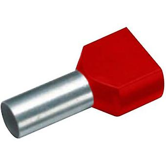 18 2468 Cimco Twin ferrule 2 x 1 mm² x 13 mm Partially insulated Red 100 pc(s)