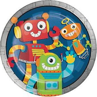 Robot plaat 23Ø 8 stuk verjaardag thema partij partij verjaardag kinderen