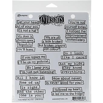"""Dyan Reaveley's Dylusions Cling Stamp Collections 8.5""""X7"""" - How About Never"""