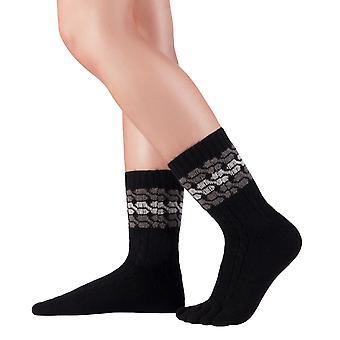 Chaussettes d'orteil Knitido Merino Cashmere Meander, chaussettes en laine sans couture, sans élastique