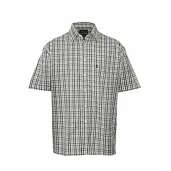Champion Mens EasyCare Casual Short Sleeve Shirt L Doncaster - Green
