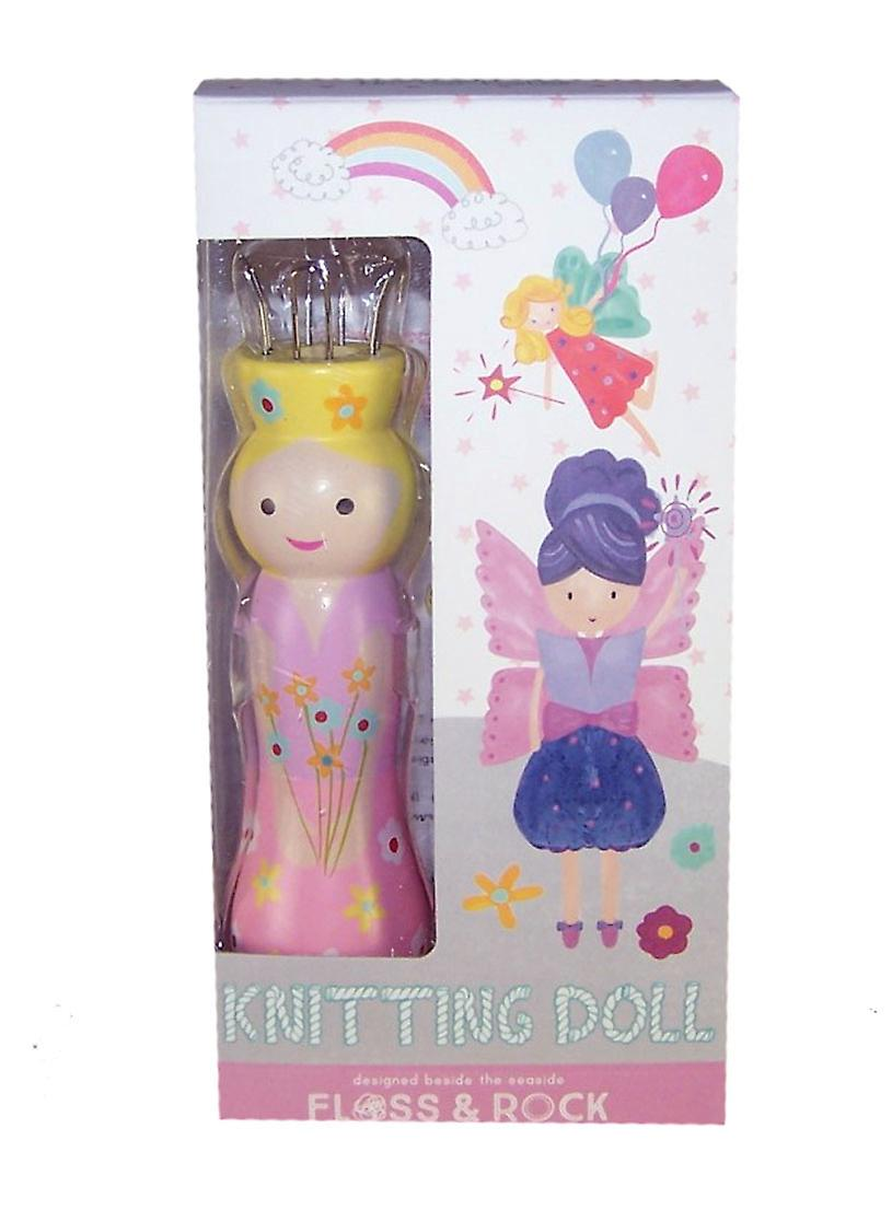 Fairy knitting doll with 6 coloured wools