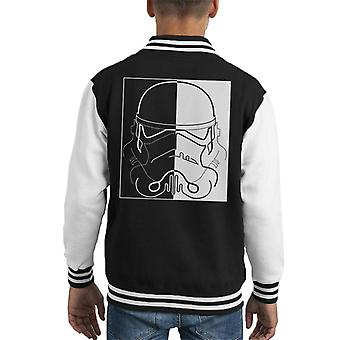 Original Stormtrooper Linie Kunst Two Tone Helm Kid Varsity Jacket
